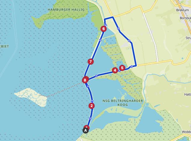 link to trail Lüttmoorsiel Friesland Wattenmeer